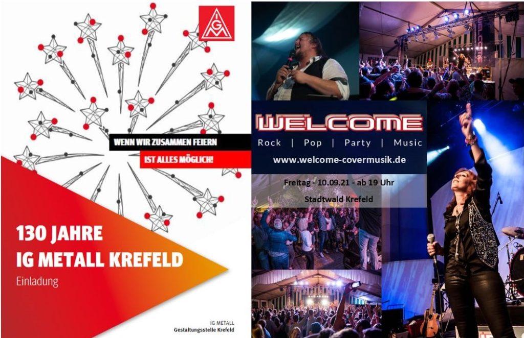 Plakat zur Veranstaltung 130 Jahre IG Metall Krefeld